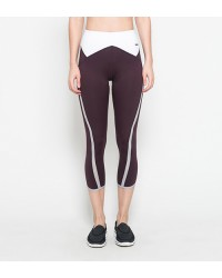 Averie Maroon Capri Pants