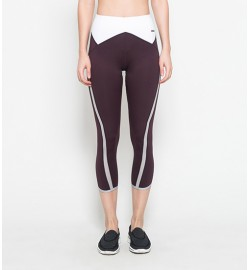 raquellingerie ACTIVEWEAR Sports Pants Averie Maroon Capri Pants
