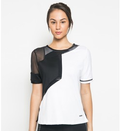 raquellingerie ACTIVEWEAR Sports Top Carla Outer White Black