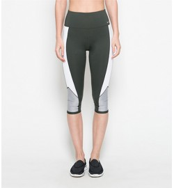 raquellingerie ACTIVEWEAR Sports Pants Estelle Green Capri Pants