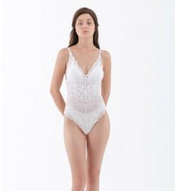 raquellingerie LINGERIE BodySuit Sheera Bodysuit White